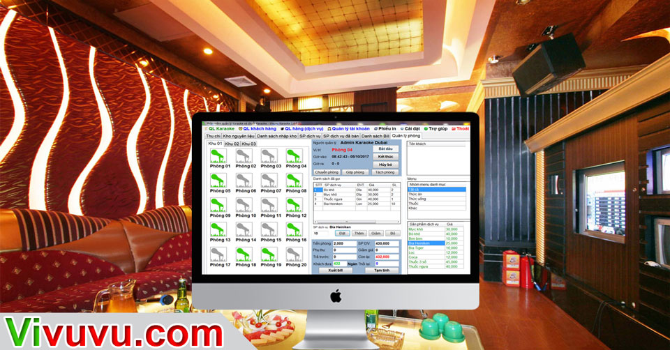 Phần mềm quản lý karaoke đà nẵng, hcm, hà nội, chuỗi karaoke